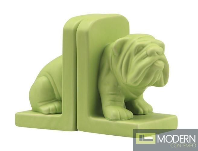Bulldog Bookend Green