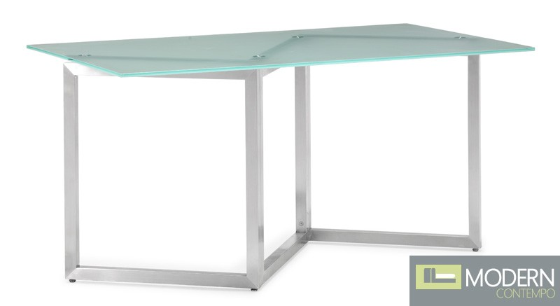 Marker dining table frosted glass - Frosted glass dining tables ...