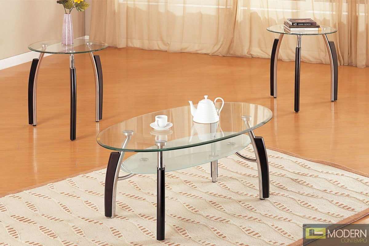 3Pc Contemporary Glass Top Coffee Table Set MCGSL3077, Free 24 to 72 hours inside delivery in DMV Area