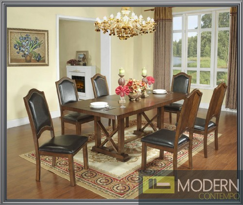 pc high end cherry finish dining room set table and chairs zac11830