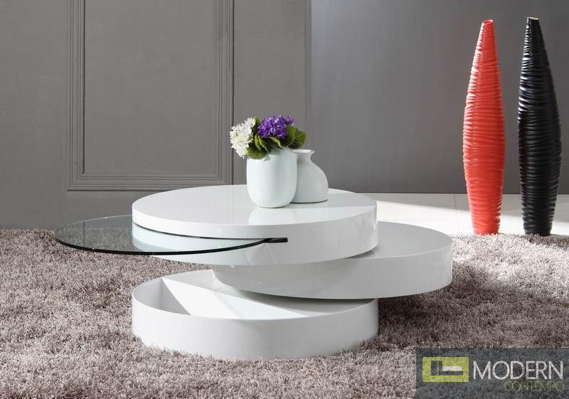 Modrest Tier - Modern Swivel Coffee Table