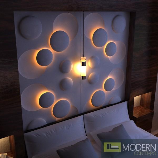 Modern Design Led Lit 3D Wall Panel 3dwalldecor
