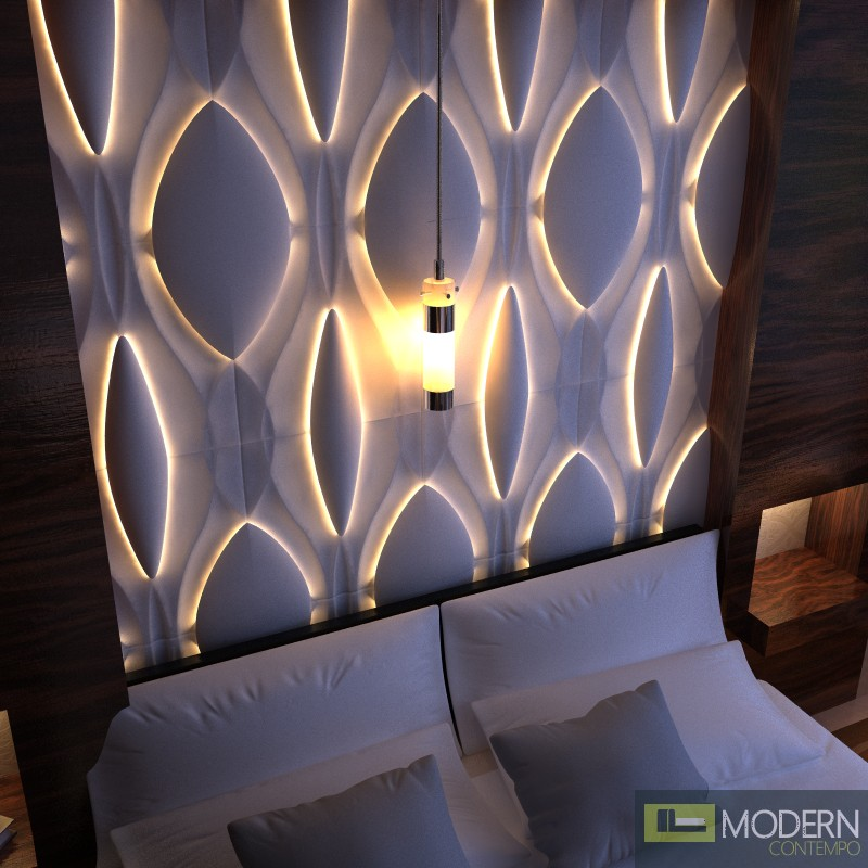 3d Wall Decor Lights : Modern design led lit d wall panel dwalldecor