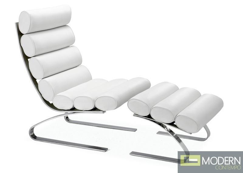 Unico Lounge & Ottoman White