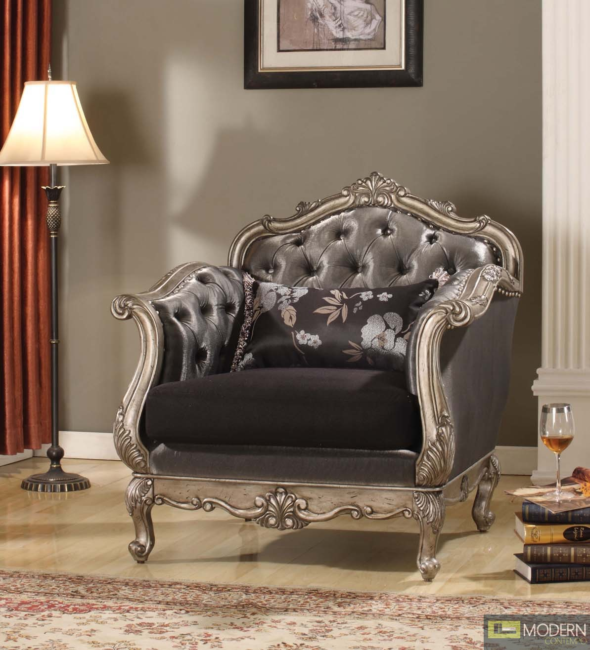 Modern Contempo French Rococo Luxury Sofa Traditional Living Room Set Mcac51540