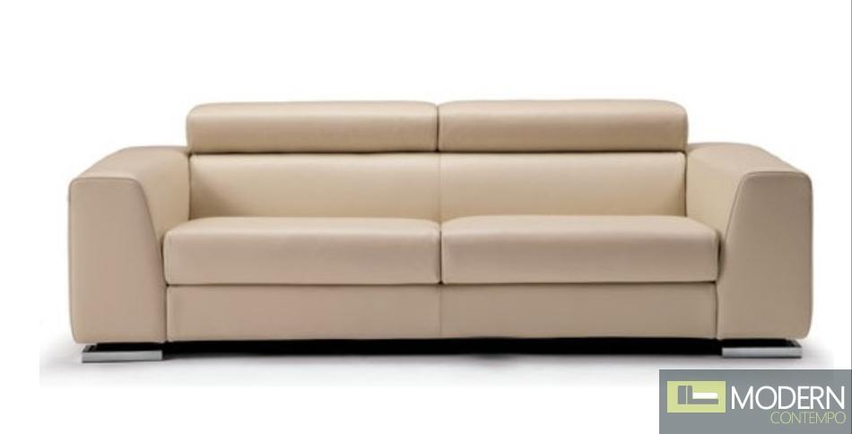 Divani Casa 553 - Modern Beige Italian Leather Sofa Set