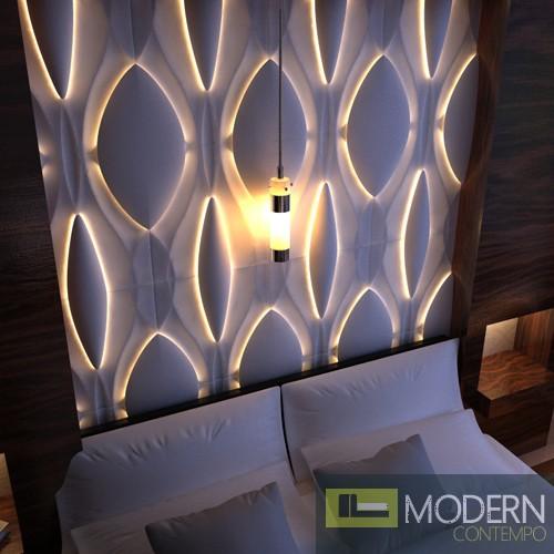 Modern Design Mdf 3d Wall Panel Led 3dwalldecor Led