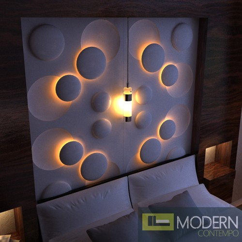 3d Wall Decor Lights : Modern design mdf d wall panel led dwalldecor