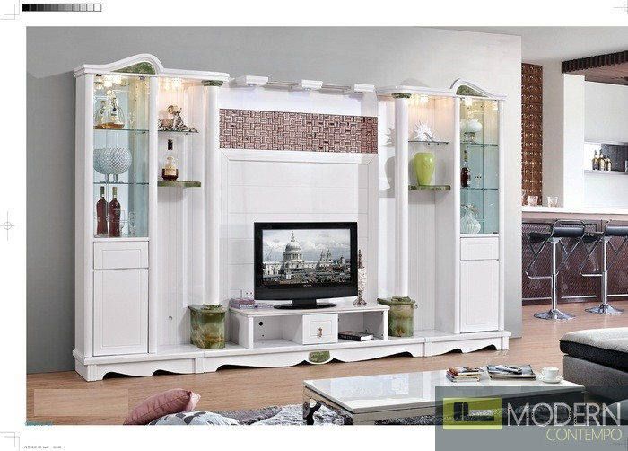 Contemporary Modern wall unit entertainment center