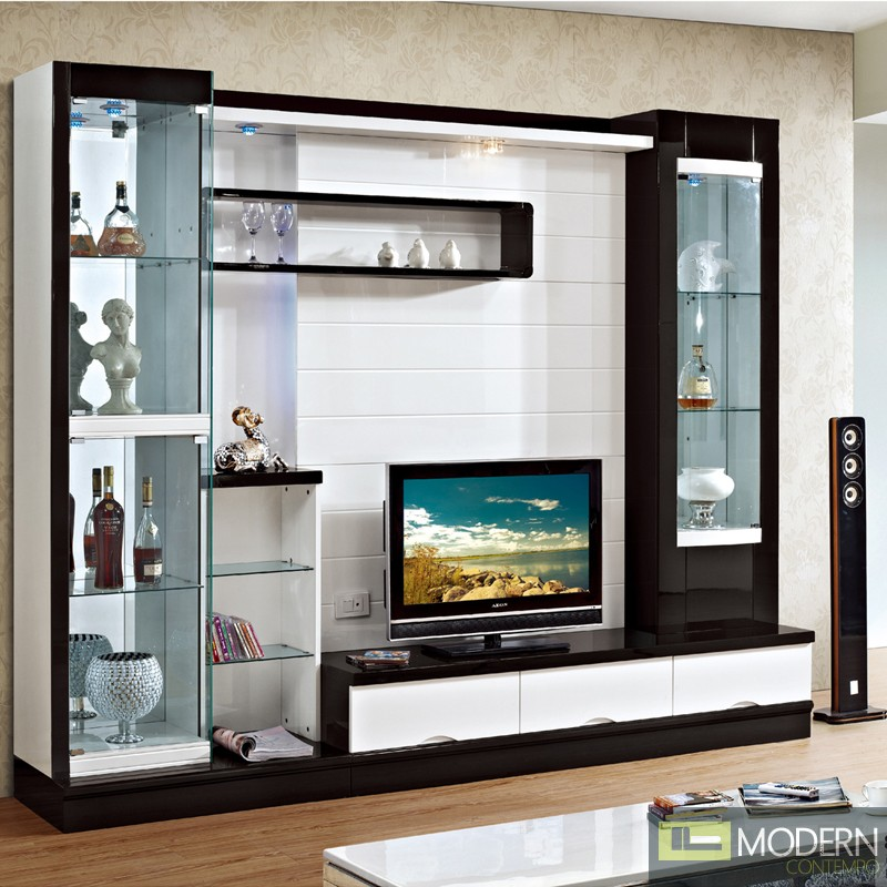 Contemporary modern wall unit entertainment center - Modern entertainment wall unit ...