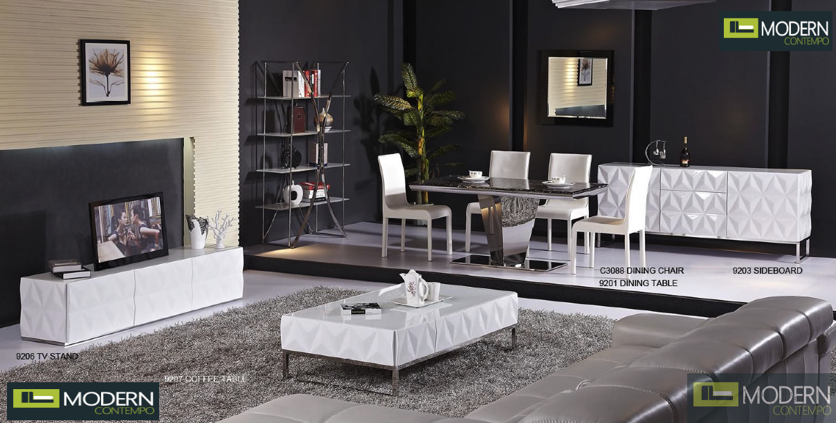 Calix White Lacquer Sideboard