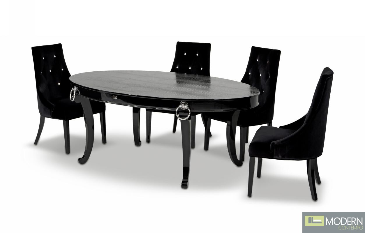 A x bellagio luxurious crocodile transitional dining table - Luxurious dining tables ...