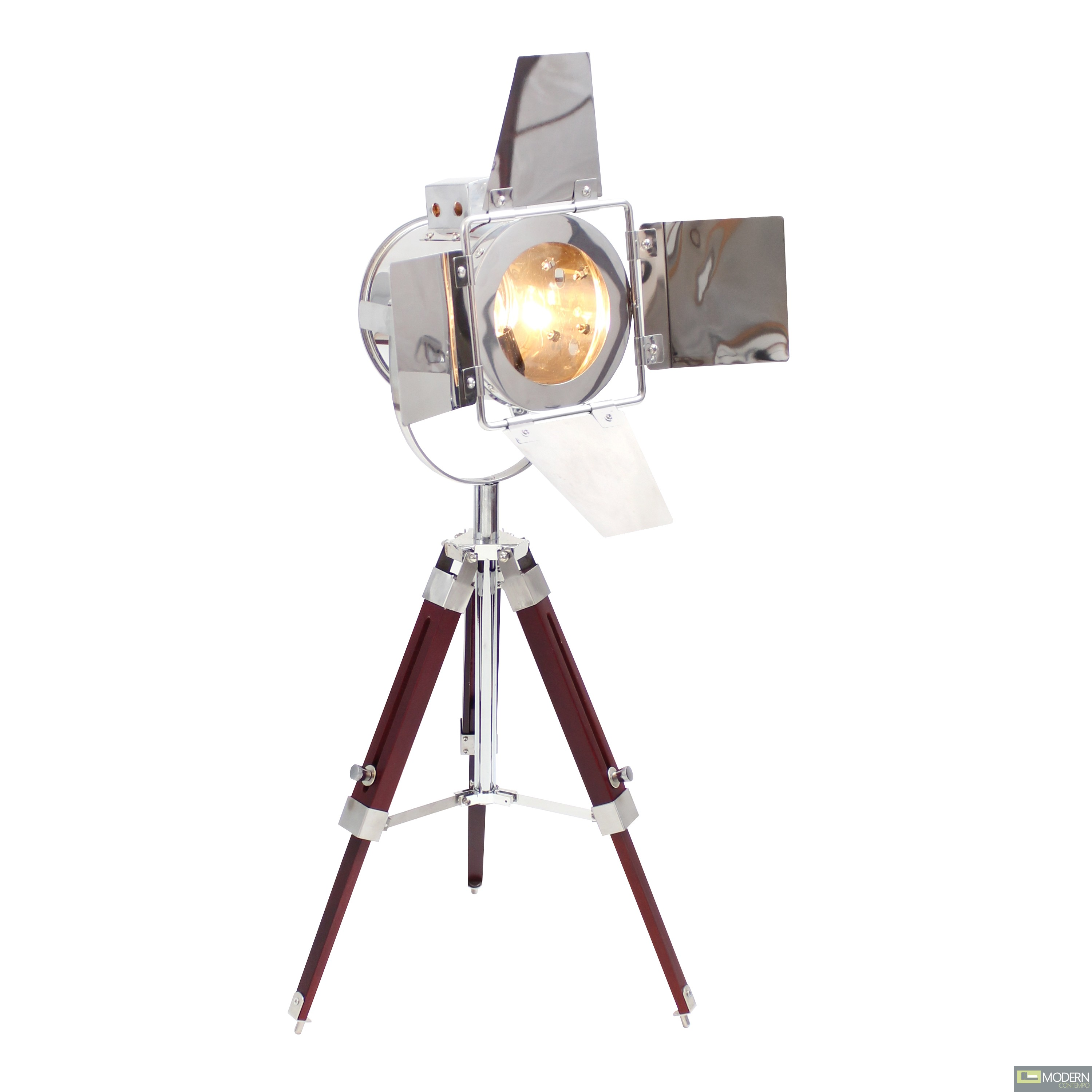 Vintage Modern Hollywood Spotlight Tripod Table Lamp Light