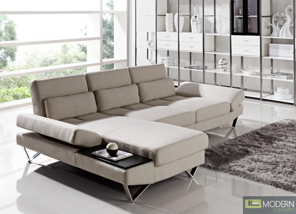Divani Casa Yorba - Modern Fabric Sectional Sofa Set