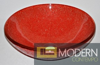 Textured Red Vessel Sink