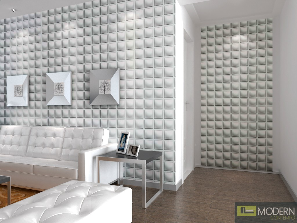 Dice 3d wall panel for 3d wall covering