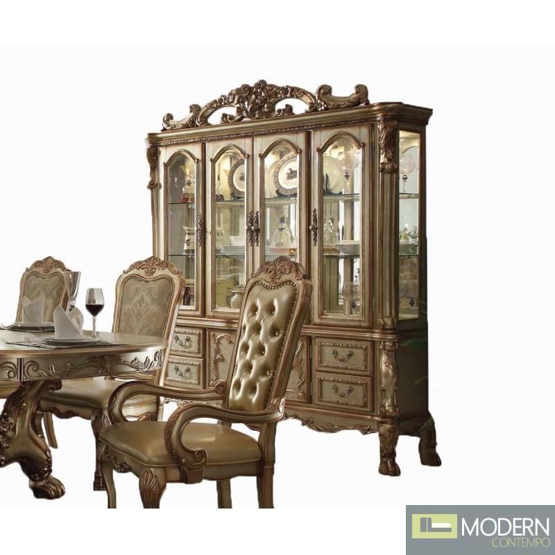 Ac 63150 Gold Patina Dresden Dining Set