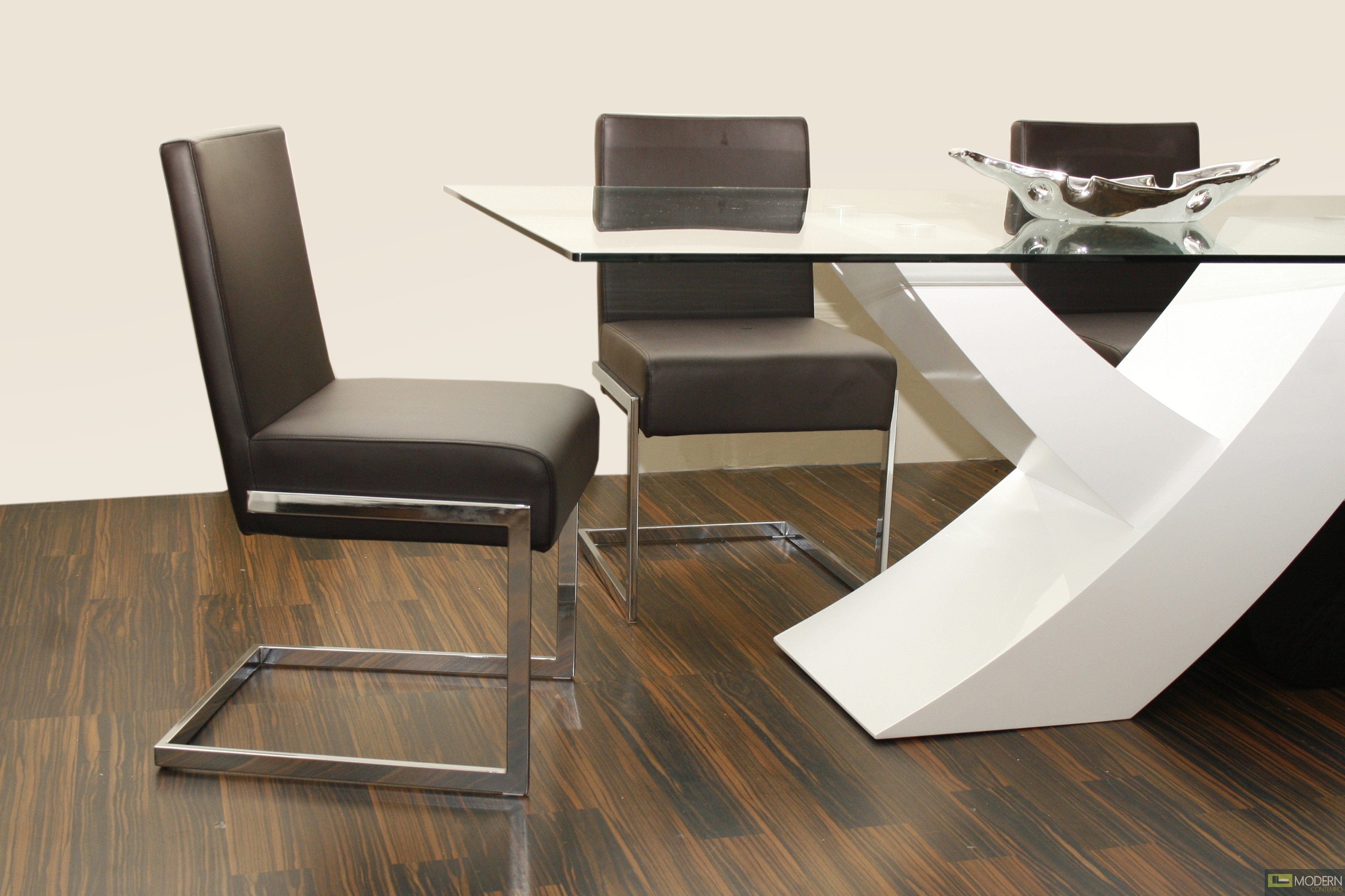 Atlas Modern Two Tone Dining Table
