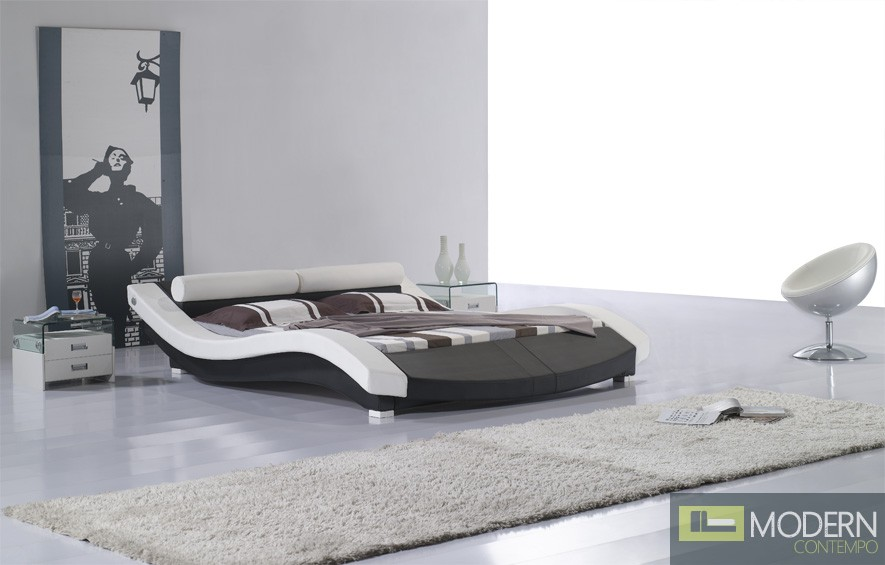 MODERN CONTEMPORARY QUEEN SAHARA PLATFORM BED