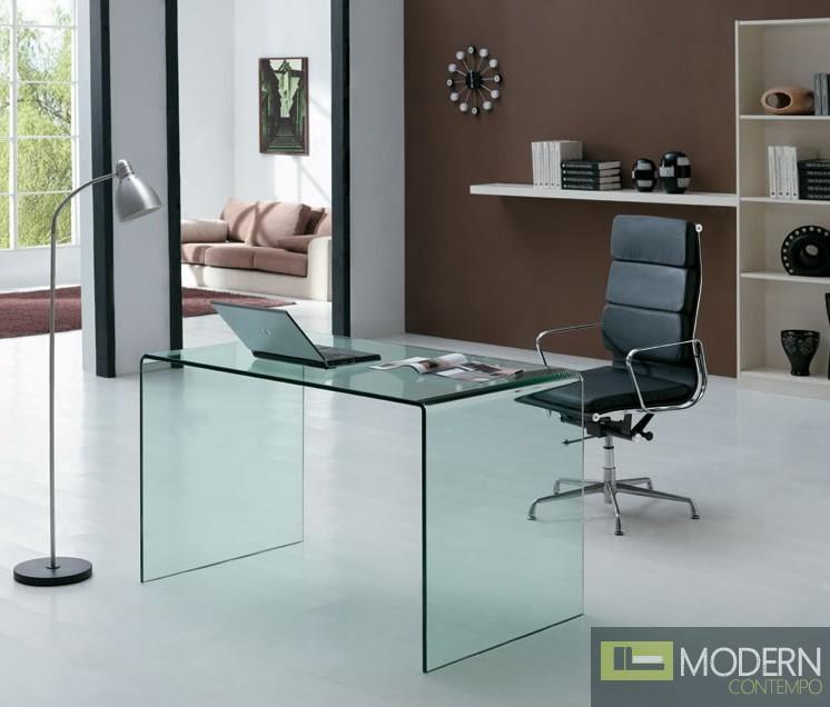 Bent  Glass Office Desk