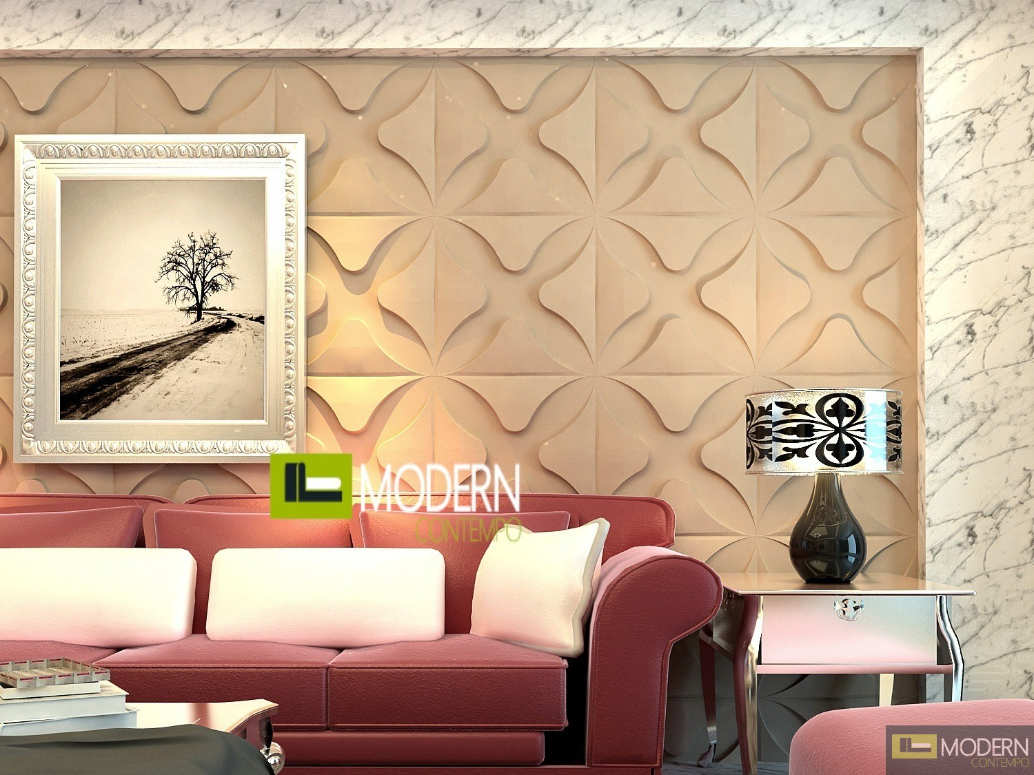 Club Exterior And Interior Glue On Wall 3d Surface Panel