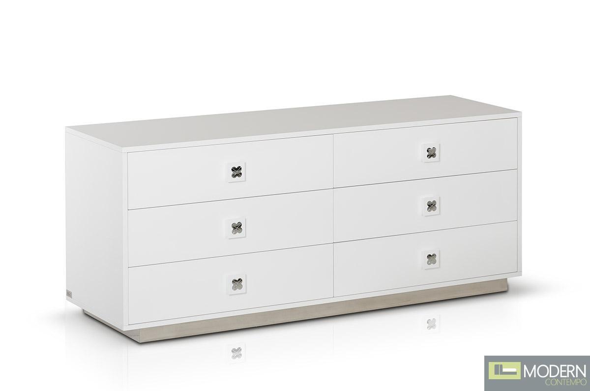 A&X Monica - Modern White Gloss Dresser Table