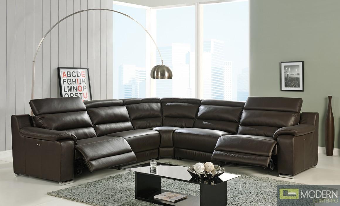 More Views & Elda - Modern Italian Leather Reclining Sectional Sofa islam-shia.org