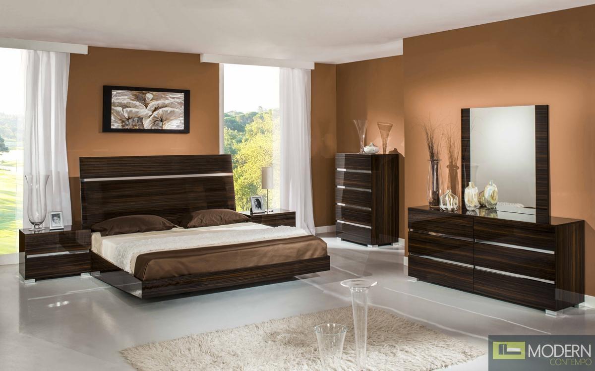 home modrest excalibur italian modern ebony lacquer bedroom set