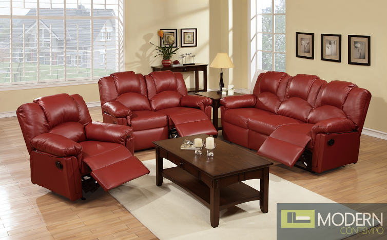 3pc Burgundy Bonded Leather Motion Loveseat sofa and Chair.  MCGSL667789, Free 24 to 72 hours inside delivery in DMV Area