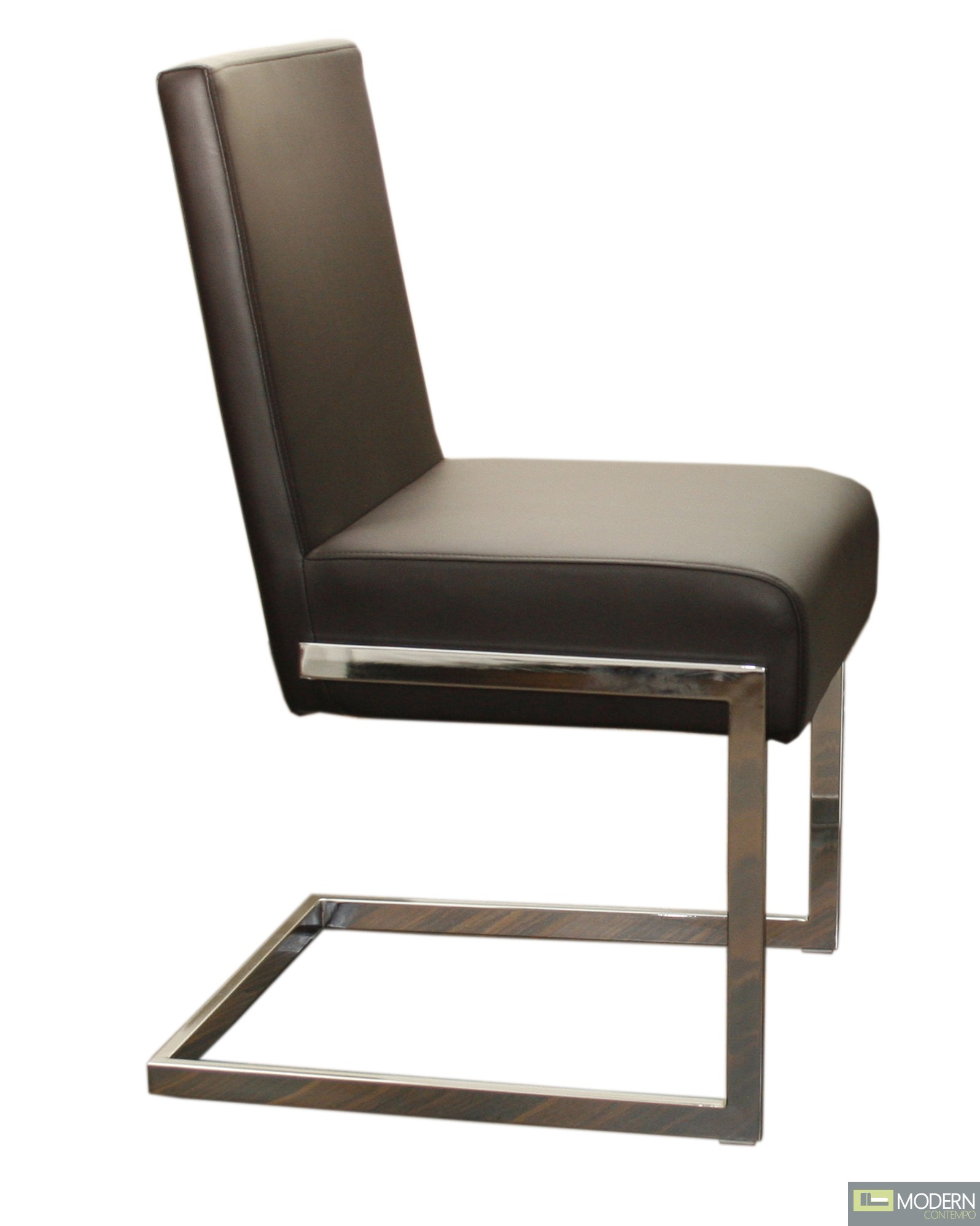 Fontana modern leather dining chair for Modern leather chair