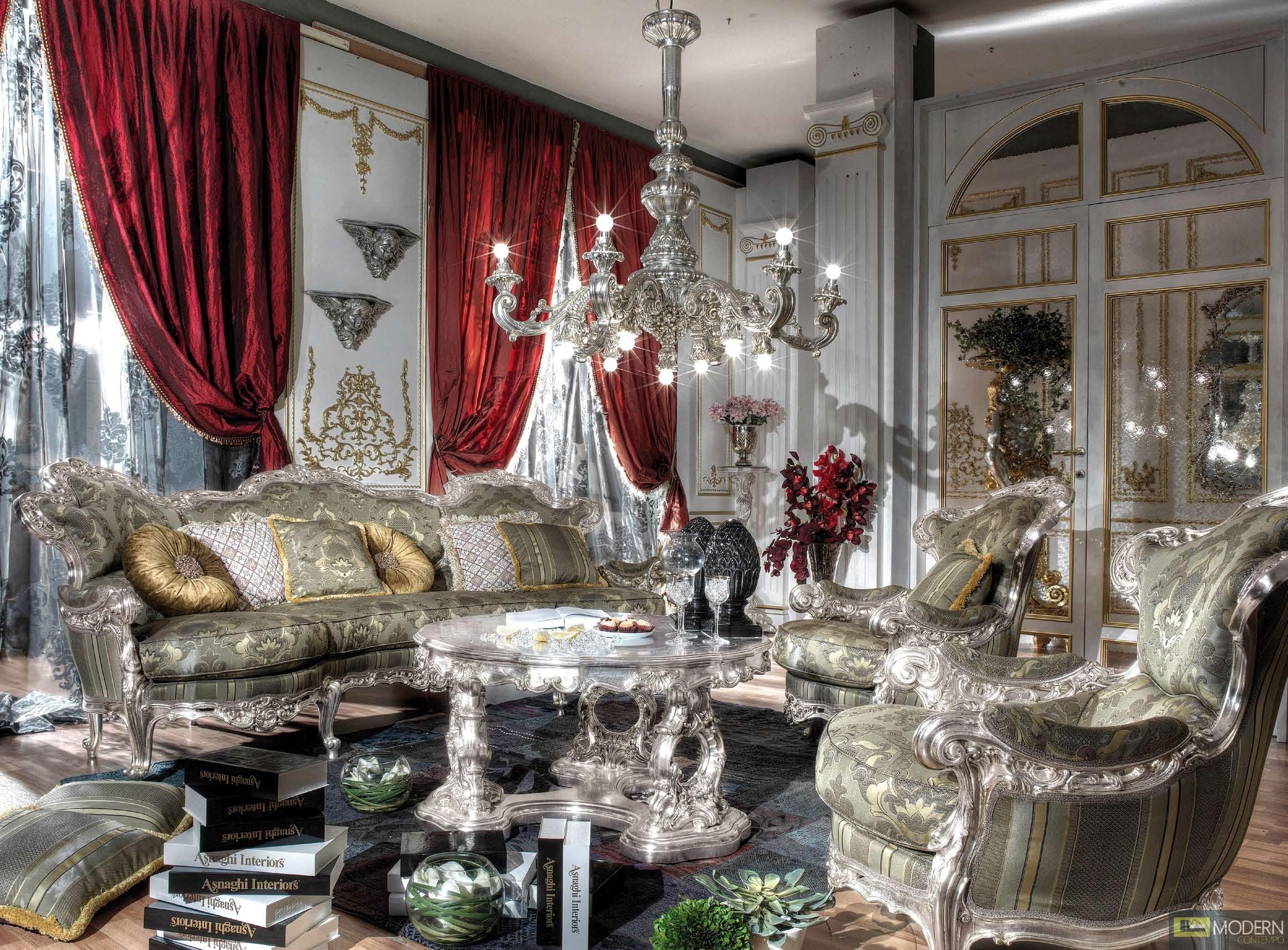 Royal Italian Luxury Living Room Fabiens Set