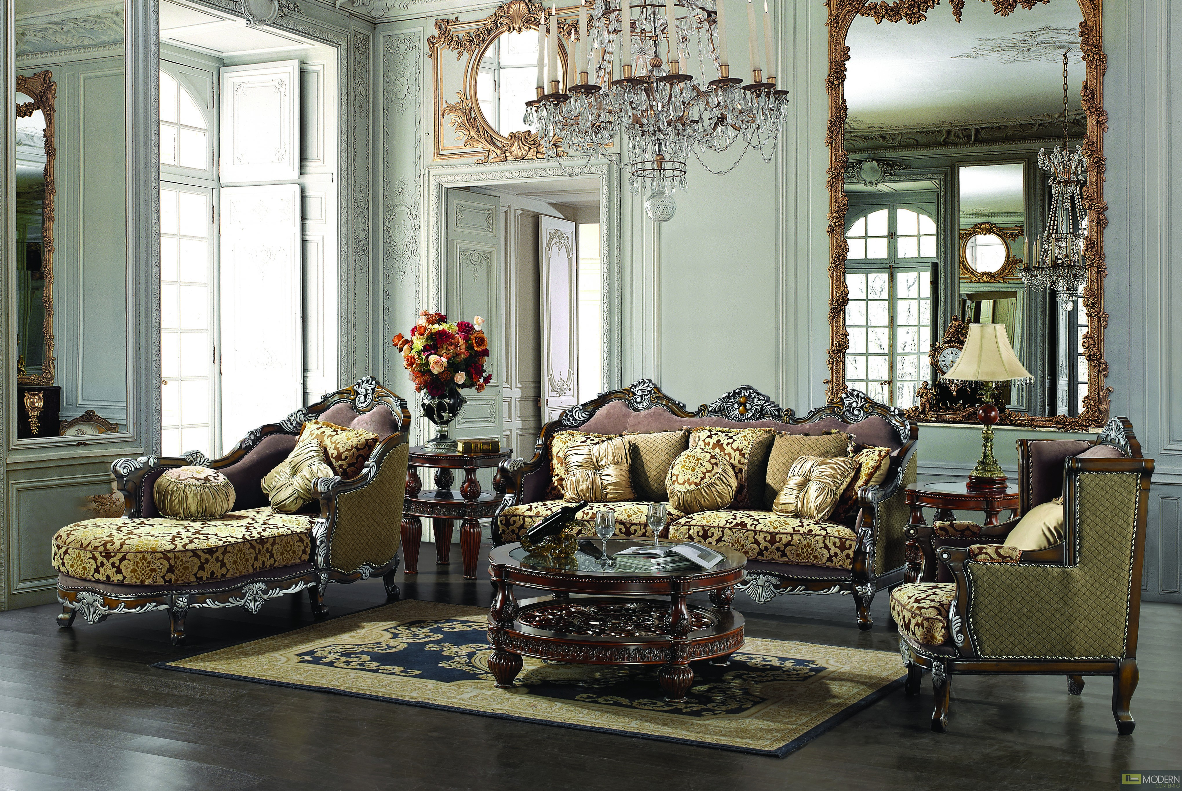 Home Traditional Upholstery French European Design Formal Living Room