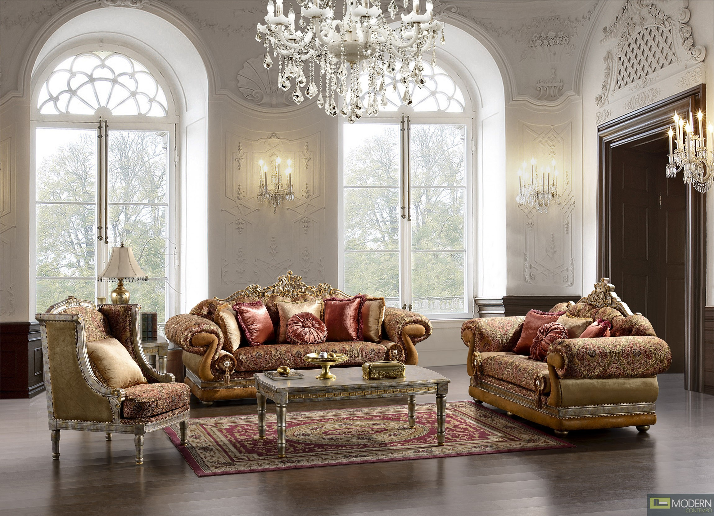 Traditional sofa set formal living room furniture mchd1851 for Formal living room furniture