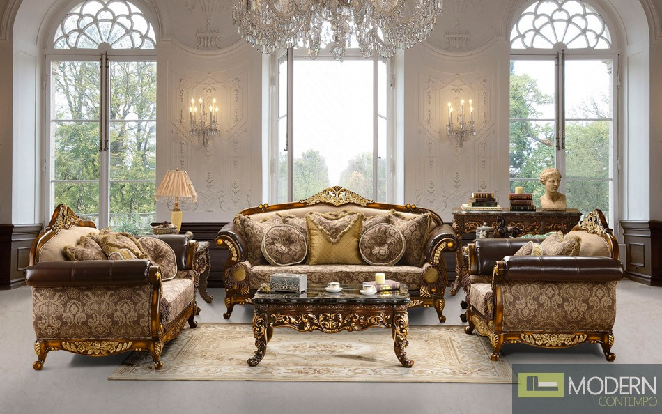 Traditional Sofa Set Formal Living Room Furniture HD-372