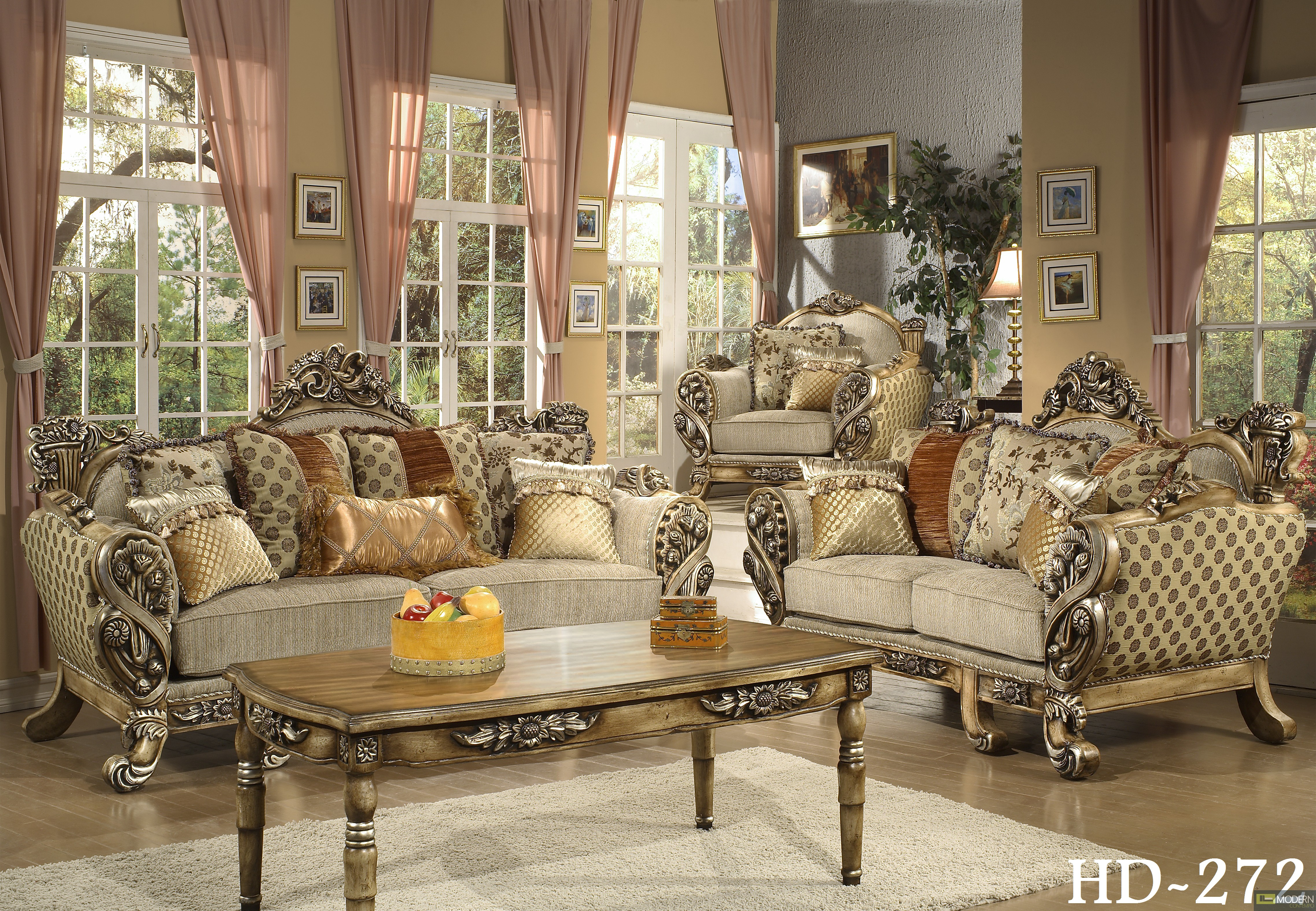 Amazing Traditional Living Room Set HD272