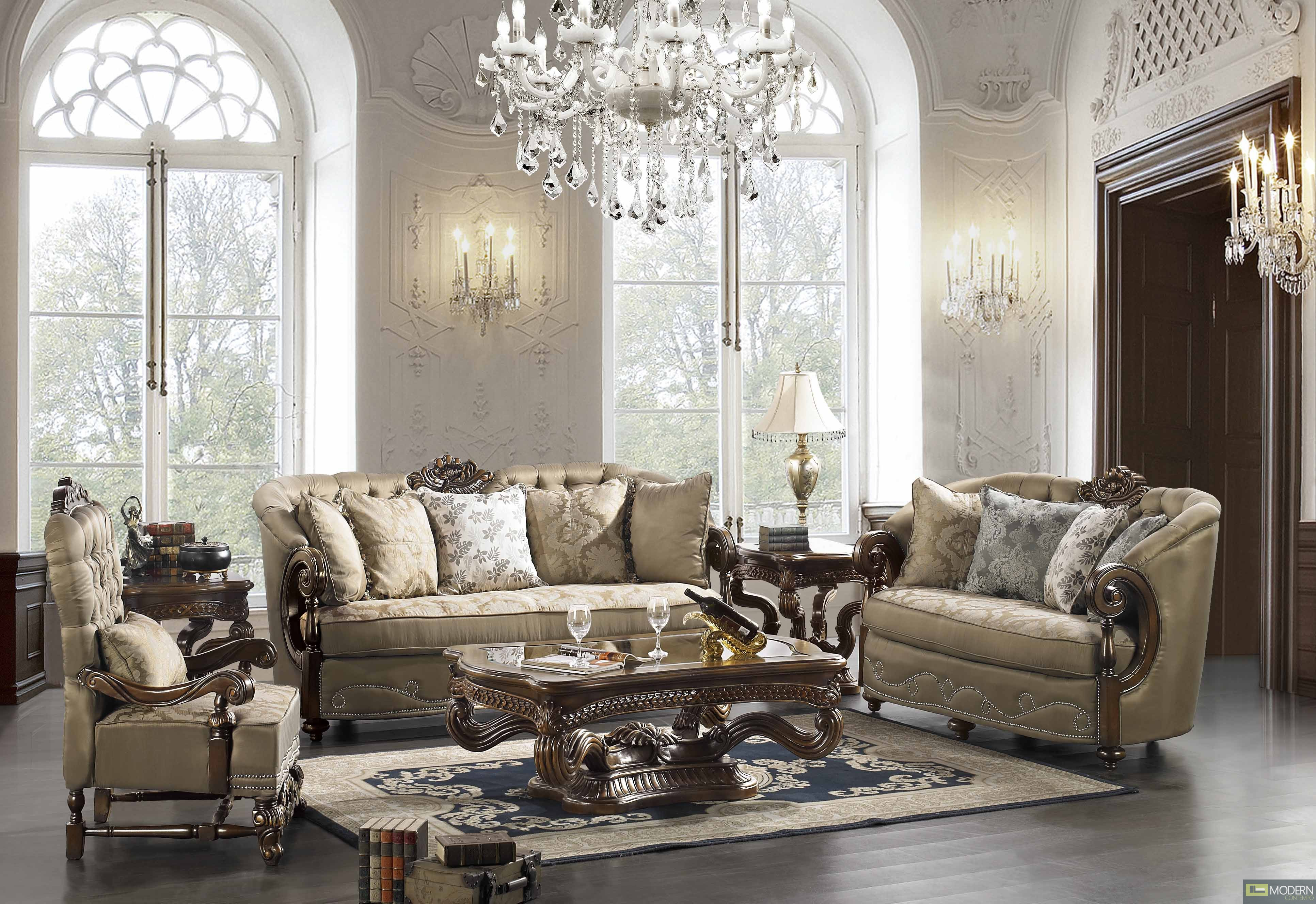 Elegant traditional formal living room furniture Glamorous living room furniture
