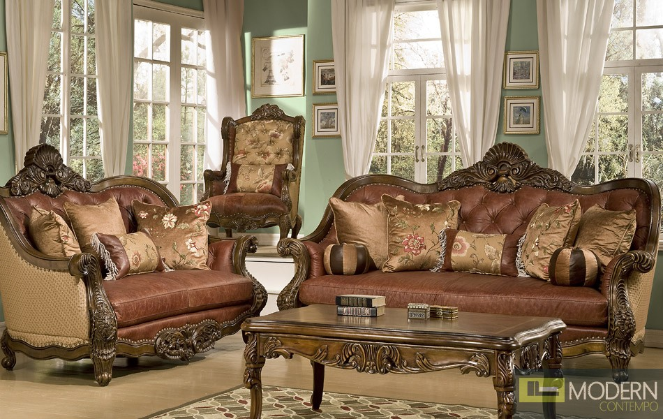 Traditional sofa set formal living room furniture mchd1851 for Formal sofa sets