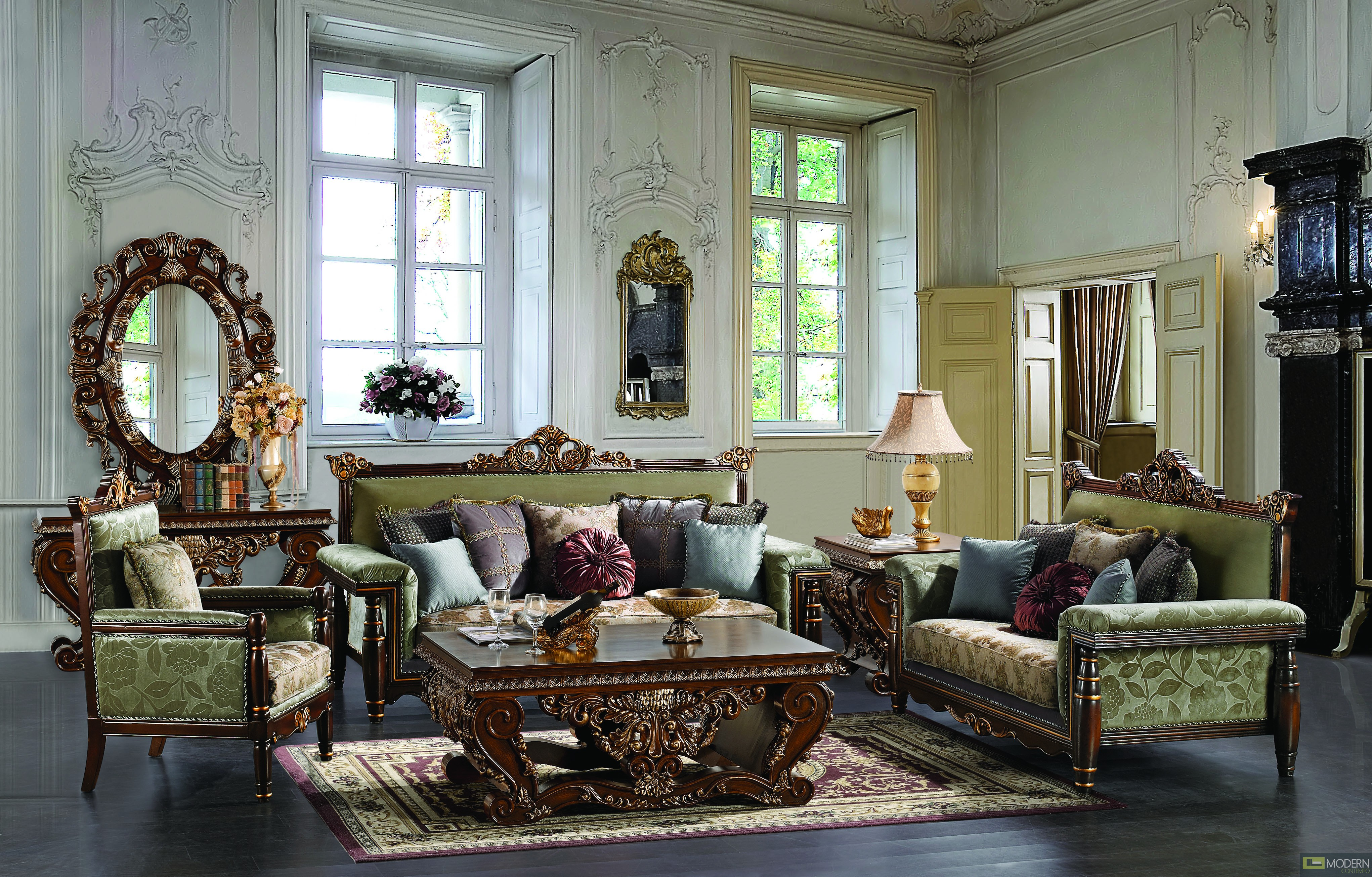 Traditional Sofa Set Formal Living Room Furniture HD372Traditional Sofas  Living Room Furniture