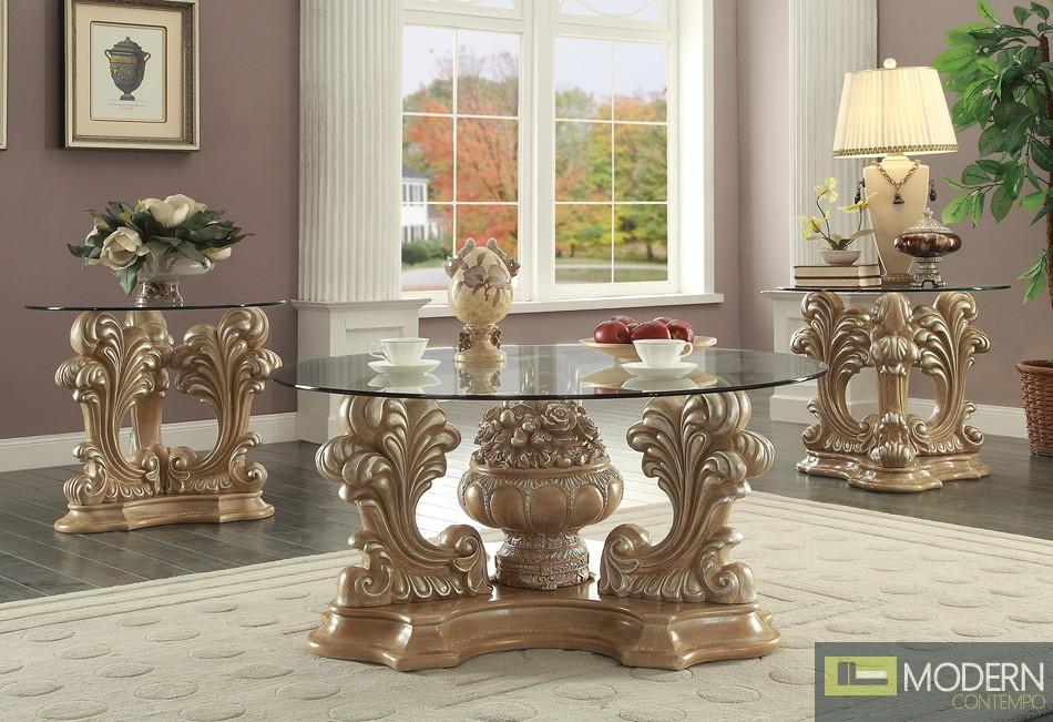 Mia Belle Victorian Formal Living Room Set