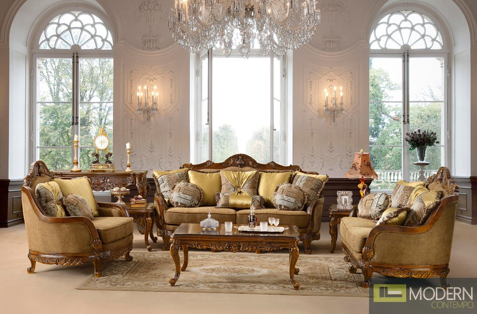 traditional sofa set formal living room furniture