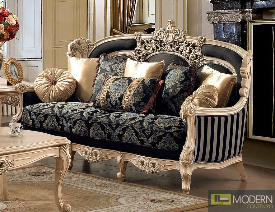 Luxurious Traditional Style Formal Living Room Furniture Set ZHD-03