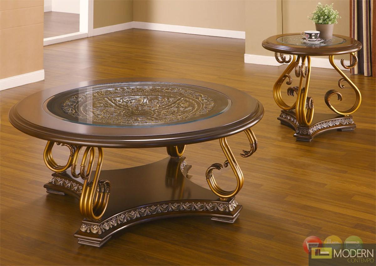 Traditional european design formal living room sofa set w carved wood