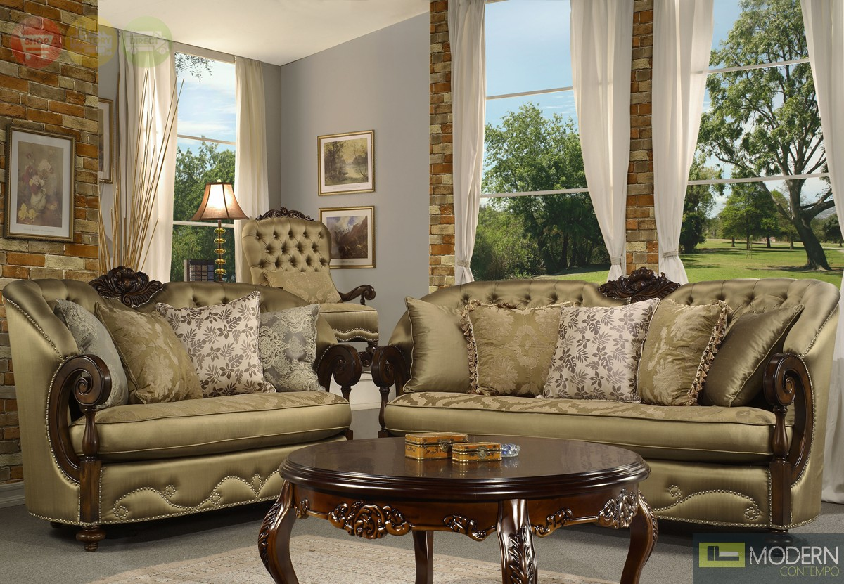 Elegant traditional formal living room furniture for Sitting room furniture