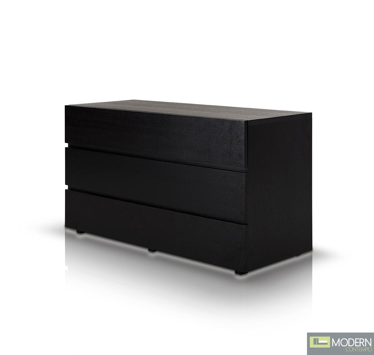 Modrest Logan - Modern Black Oak Dresser