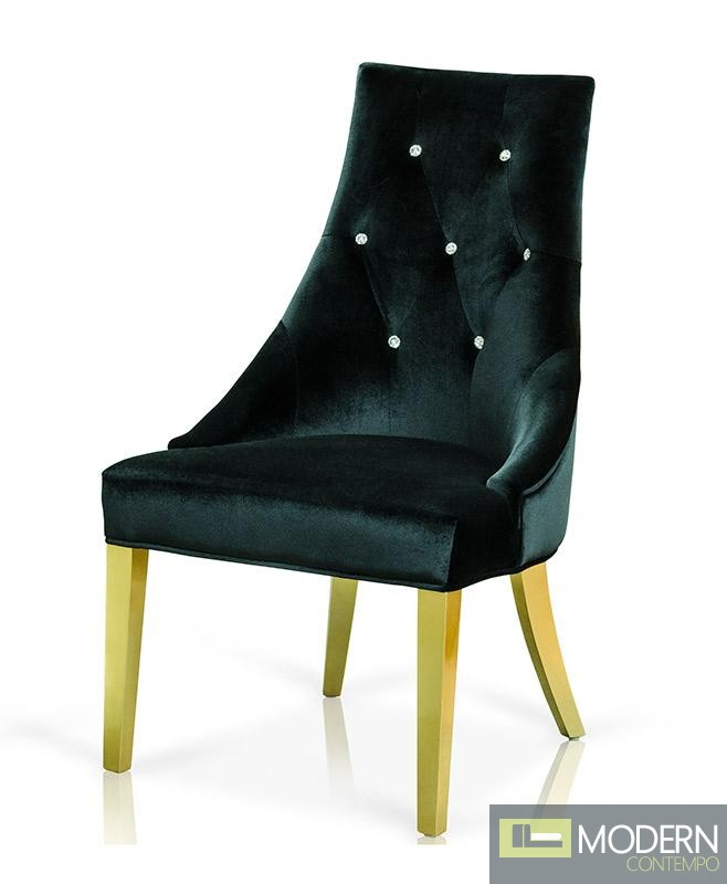 AampX AA031 Black Velour Dining Chair Set of Two : image3575 from moderncontempo.com size 658 x 800 jpeg 46kB