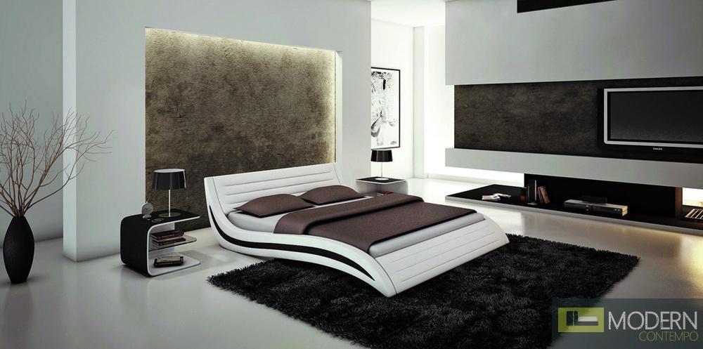 Apollo - Contemporary White Bonded Leather California King Bed