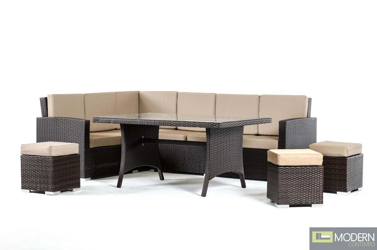 Renava kingston modern outdoor dining set for Modern outdoor dining chairs