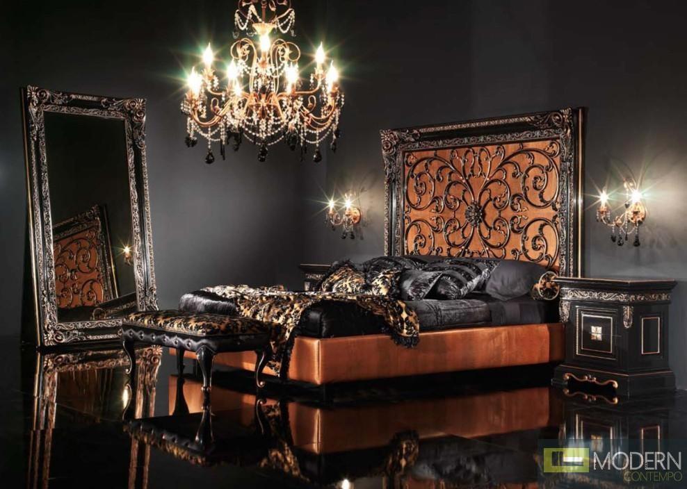 Novita Letto Bed with Orange Headboard
