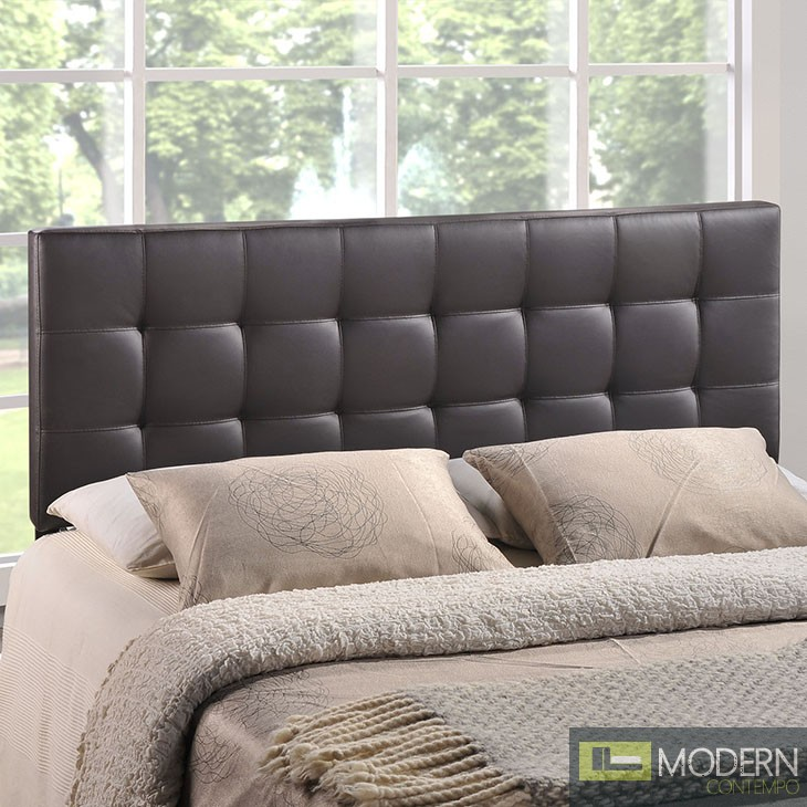 Lily Queen Fabric Headboard BROWN
