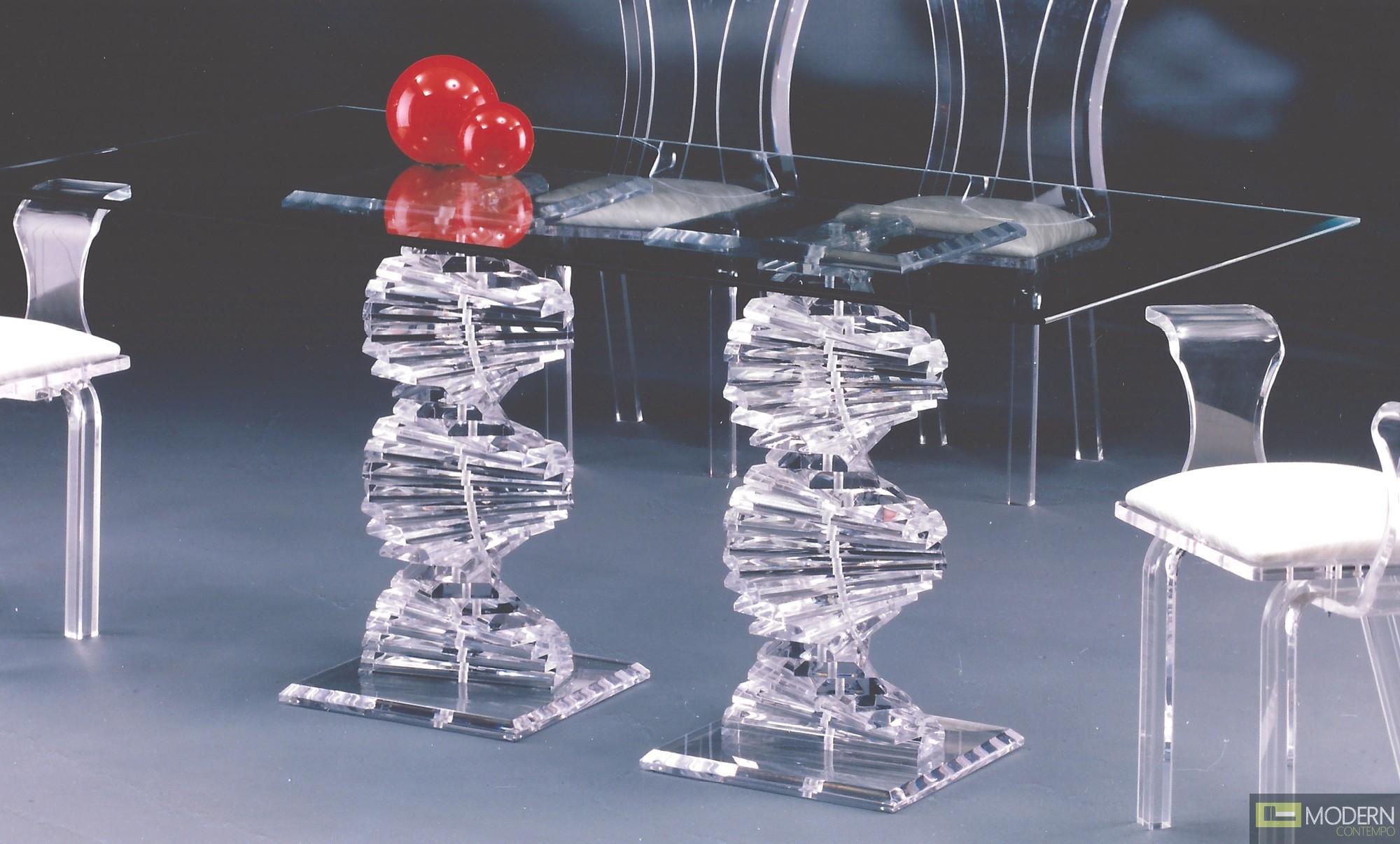 Zinotti Spiral Acrylic Dining Table - Acrylic dining table